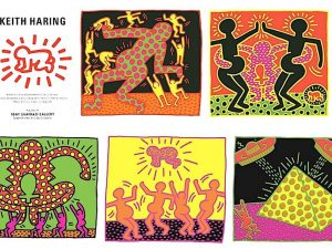 KEITH HARING - Set of 5 silkscreen