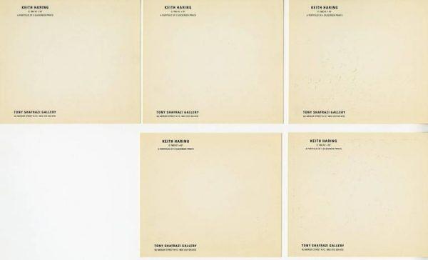 KEITH HARING - Set of 5 silkscreen 2