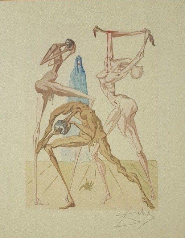 Litografía de Dalí