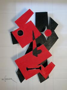 Visage rouge et noir